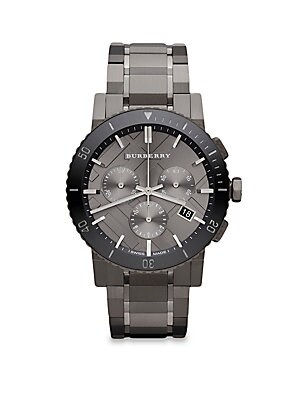 Grey IP Stainless Steel Chronograph Watch