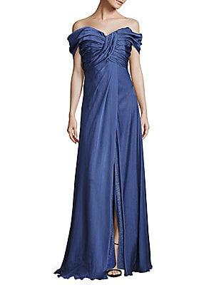 Off-Shoulder Empire Gown
