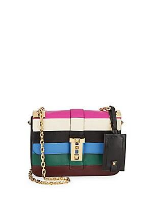 Leather Multicolored Shoulder Bag