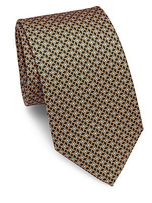 Click here for Diamond Chain Silk Tie prices