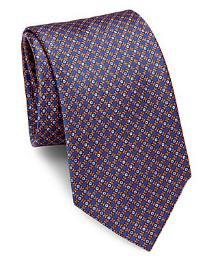 Mini Floral Silk Tie