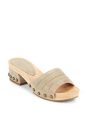 Abel Suede Slide Sandals
