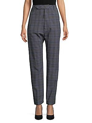 Baggy Plaid Suit Pants
