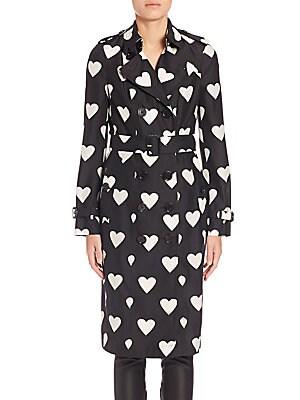 Sandringham Heart-Print Trench Coat