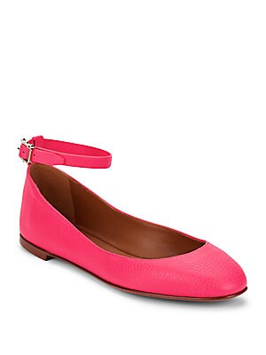 Textured Leather Ballet Flats
