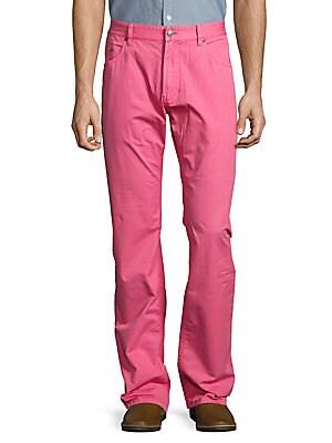 Buttoned Cotton Jeans