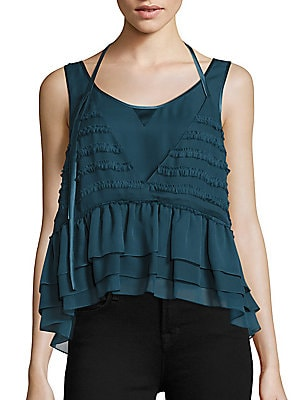 Allegra Sleeveless Silk Top