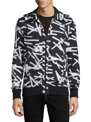 Printed Elongated Hoodie Madison Supply