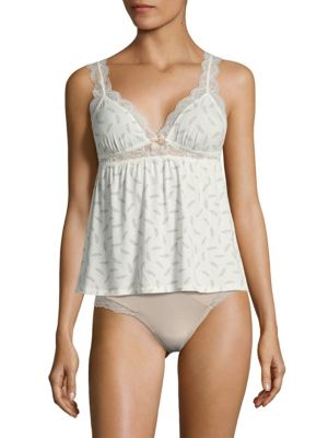 Sleeveless Floral-Lace Camisole Eberjey