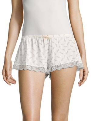 Plume Of Love Printed Shorts