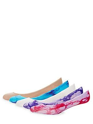Tie-Dye Foot Socks/5-Pack