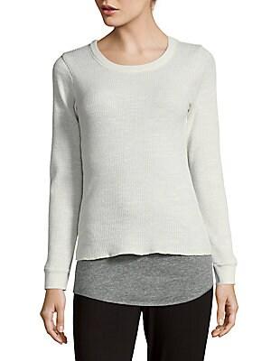 Waffle Double Layer Thermal Top