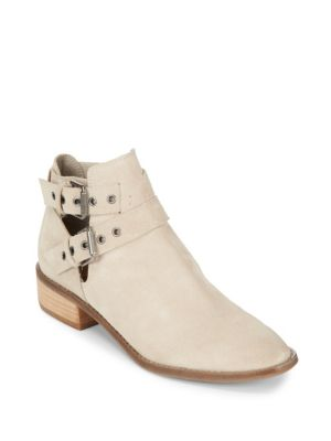 Tove Double Buckle Leather Ankle Boots Dolce Vita