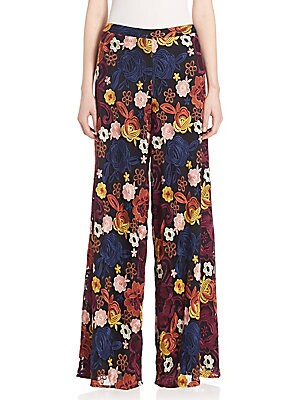 alice olivia female athena super flare wideleg pants