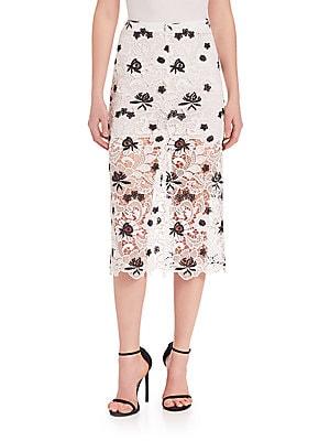 Ophelia Mid-Length Lace Skirt