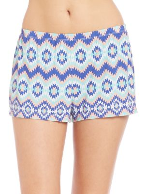Printed Elasticized Shorts Cosabella
