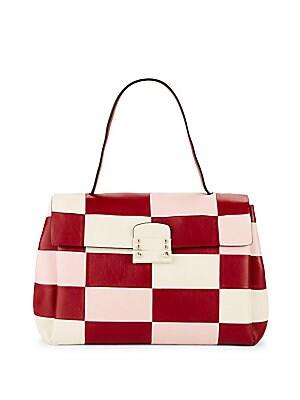Multicolored Leather Shoulder Bag