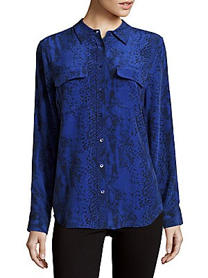 Slim Signature Riviera Silk Shirt