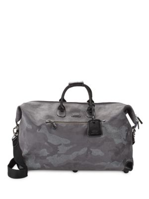 BRIC'S Life Camouflage Duffel Bag in Grey