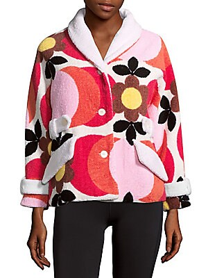 Floral Detailed Cotton Jacket
