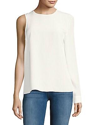 One-Sleeve Silk Top