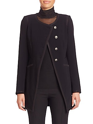 Columbia Piped Button-Front Jacket