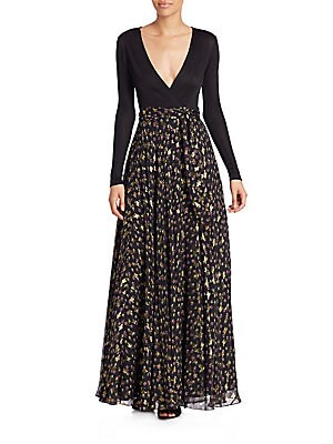 Aviva Wrap Maxi Dress
