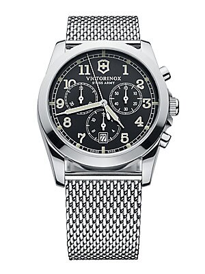 Men's Silver-Tone Chronograph Watch