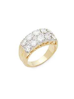 Click here for Diamond & 18K Yellow & White Gold Ring prices