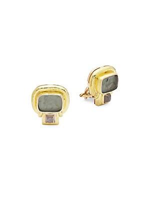 Elizabeth Locke Circa: 2002 19K Yellow Gold Earrings