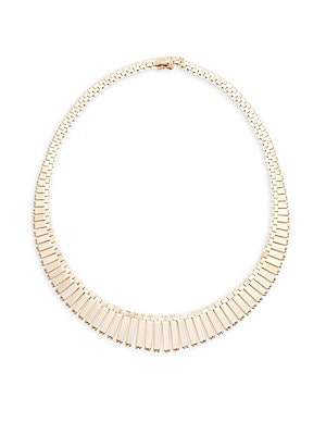 18K Yellow Gold Tapered Necklace