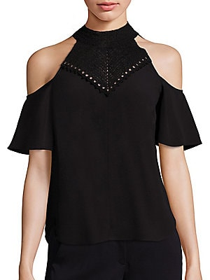 Rora Cold Shoulder Top