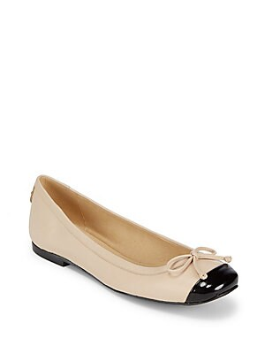 Stringtip Leather Ballet Flats