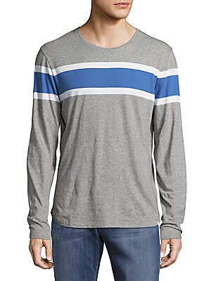 Heathered Cotton Long-Sleeve Tee