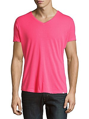 Textured V-Neck Tee