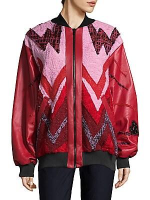 Heartbeat Leather Bomber Jacket