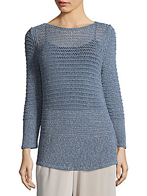 Cotton Open Loop Sweater