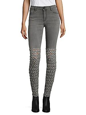 Alveoles Jarettele Embroidered Skinny Jeans