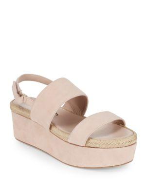 Anastasia Leather Platform Sandals Alice   Olivia