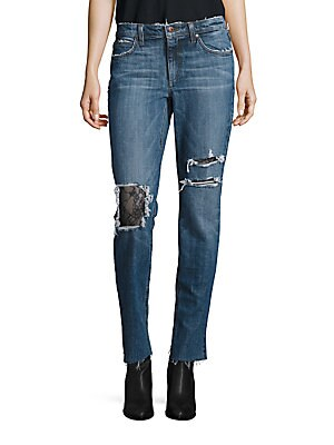 Billie Slim-Fit Distressed Ankle Jeans