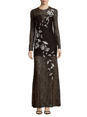 VEIRA EMBROIDERED EVENING GOWN