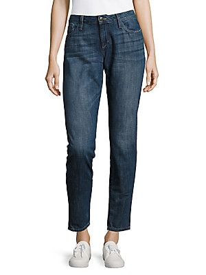 Cotton Phyllis Rolled Skinny Jeans