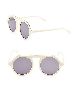 49MM Aviator Sunglasses