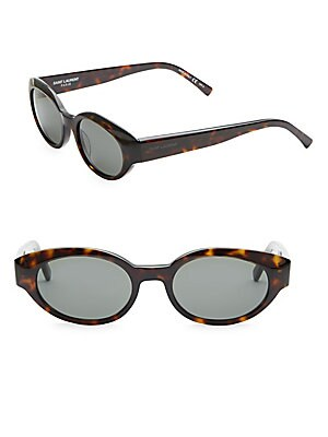51MM Speckled Oval Sunglasses