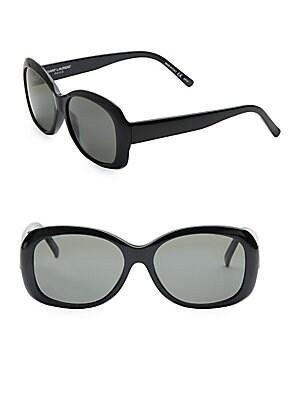 57MM Oversize Rectangular Sunglasses