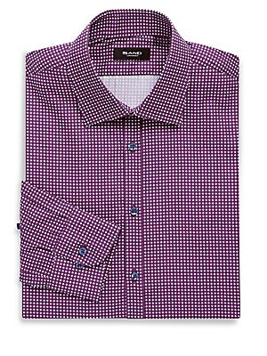 Classic Fit Printed Cotton Dress Shirt