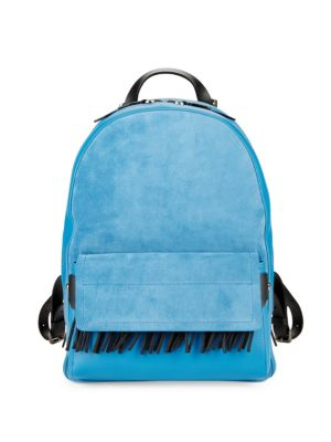Bianca Fringed Leather Mini Backpack