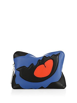 31 phillip lim female 31 second leather patchwork clutch