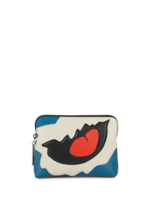 31 SECOND LEATHER PATCHWORK CLUTCH
