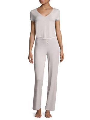 Solid Lace-Trim Pants Addiction Nouvelle Lingerie